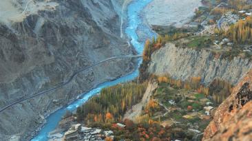 Landscape Of Hunza Valley, Gilgit-Baltistan